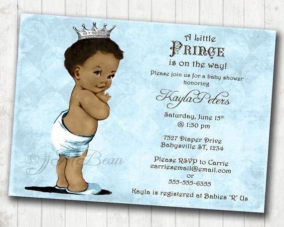 Boy baby shower invitation african american baby shower etsy image 0 filmwisefo