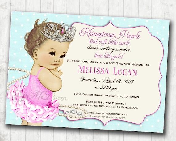 Princess baby shower invitation girl vintage baby shower etsy image 0 filmwisefo