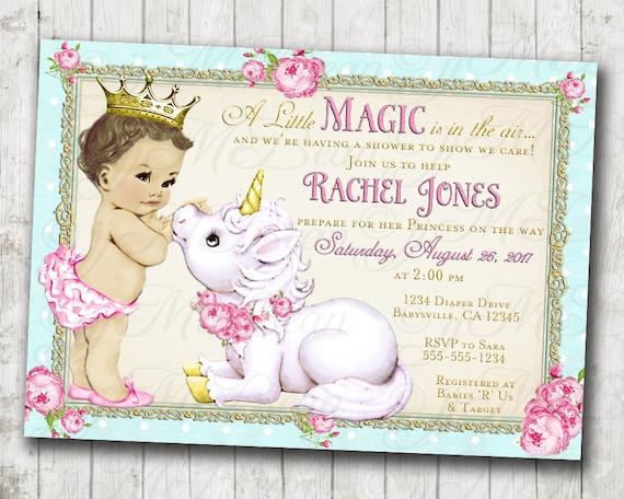 Unicorn Baby Shower Invitation Baby Shower Invitation For Girl