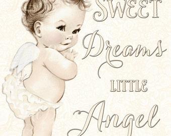 Angel Nursery Art - Angel Nursery Decor