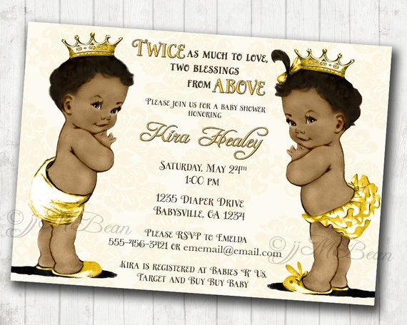 Tactueux image with regard to free printable african american baby shower invitations