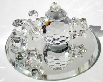 Tea Set made with Swarovski Crystal