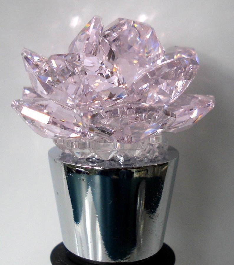 7b997a8bc Wine Stopper made with Swarovski Crystal Pink Rose | Etsy