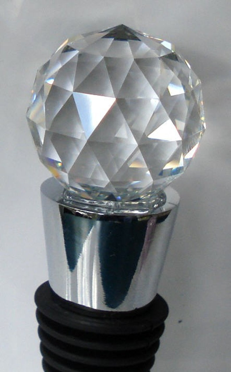 0614d0cf9 Wine Stopper made with Swarovski Crystal Ball wedding | Etsy