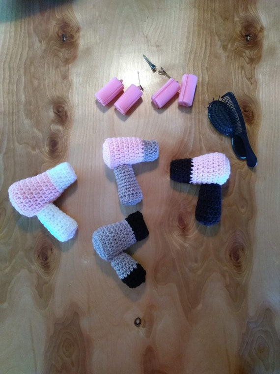 made to order Crochet hairdryer toy
