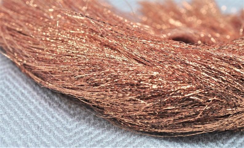 Copper Shiny Metallic Ultra Fine Blending Fibers Yarn Threads