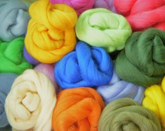Merino/Colonial Top Roving .5 Ounce Closeout...GREAT PRICE!...Stock Up While Supplies Last!