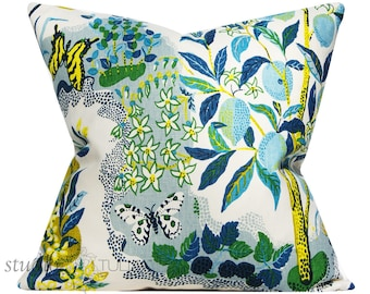 Schumacher Pillow Cover - Citrus Garden in Pool by Josef Frank - 20 inch - ready to ship