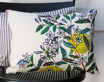 Schumacher Pillow Cover - Citrus Garden by Josef Frank - Primary - Decorative Pillow Cover - ready to ship