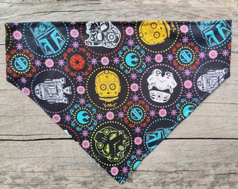 Stamp day of the dead Bandana Head Band Scarf Chemo Muertos Biker Feeanddave