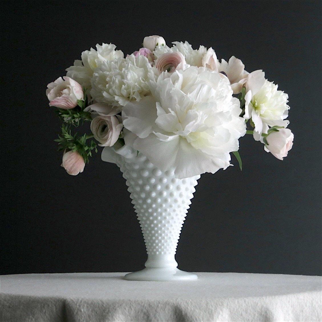 Fenton Trumpet Vase Choice of 1 Vintage Hobnail Flower Holder
