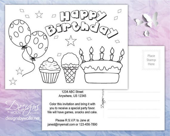 Printable Birthday Cards Invitation