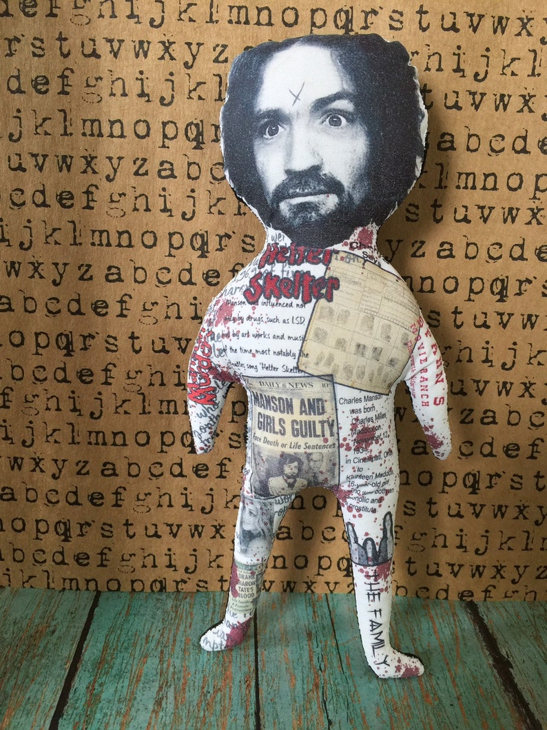 Original Art Charles Manson Voodoo Doll Serial Killer Sadism image 0
