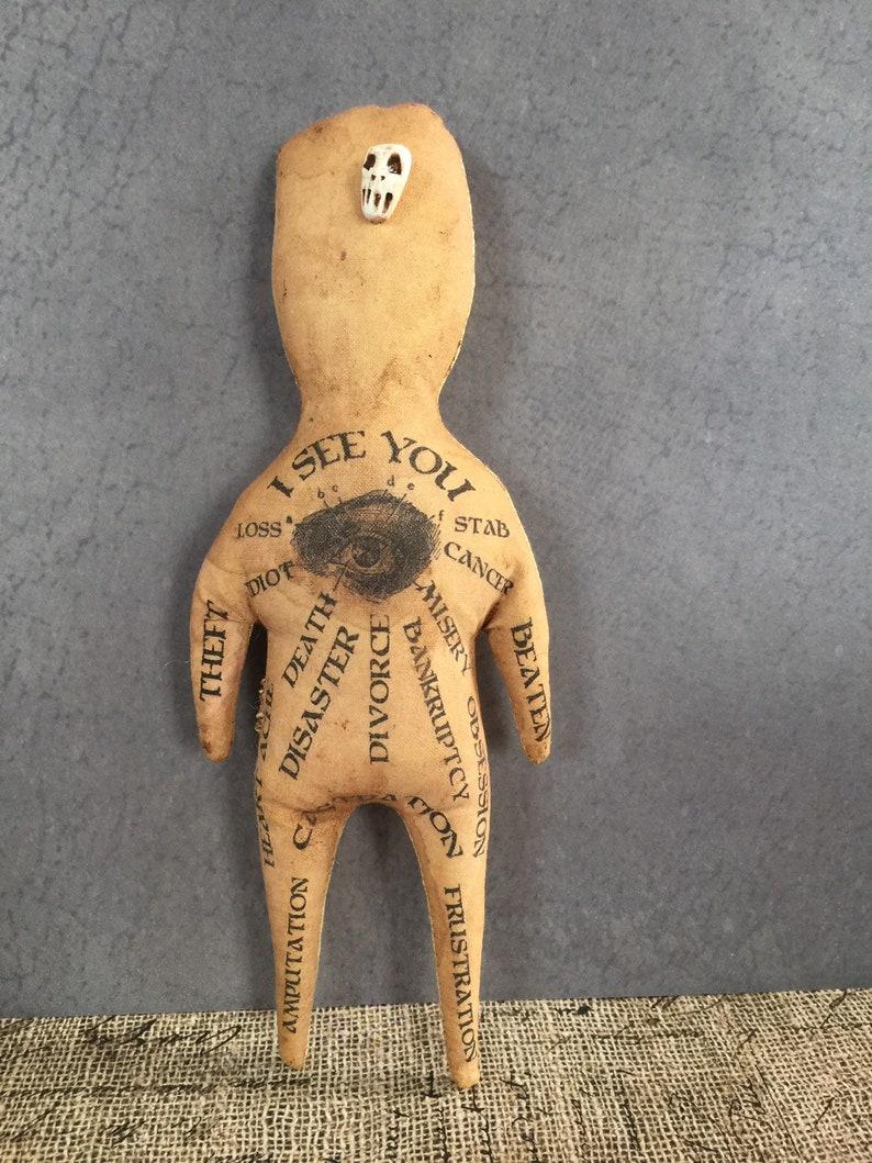 Original Handmade Voodoo Doll Hoodoo Fetish Macabre Art image 0