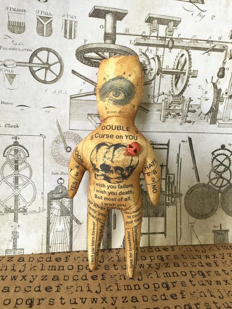 Customizable Original Art Handmade Double Curse Voodoo Doll image 0