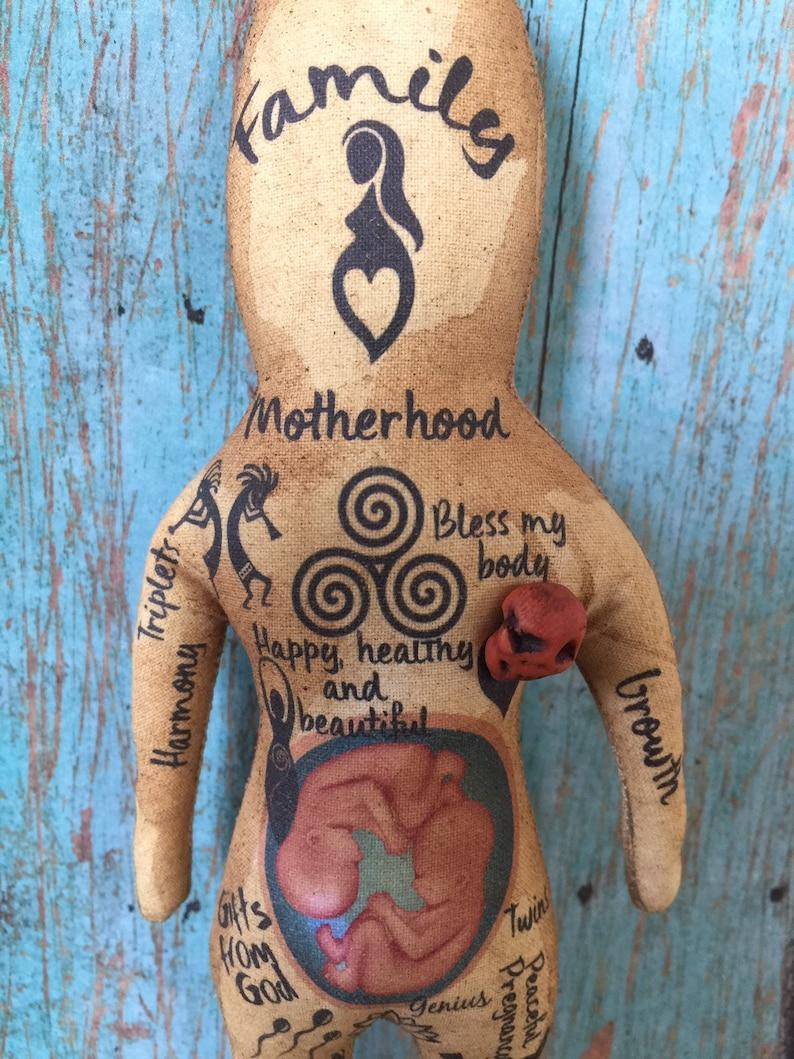 Original Art Pregnancy Voodoo Doll Spiritual Cabalistic image 0