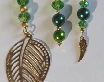 3 Piece Set Loc Jewelry by Razonda Lee Razondalee Hair Accessories Dreadlock Cuffs Beads Charms Dread Beads Green Assortment