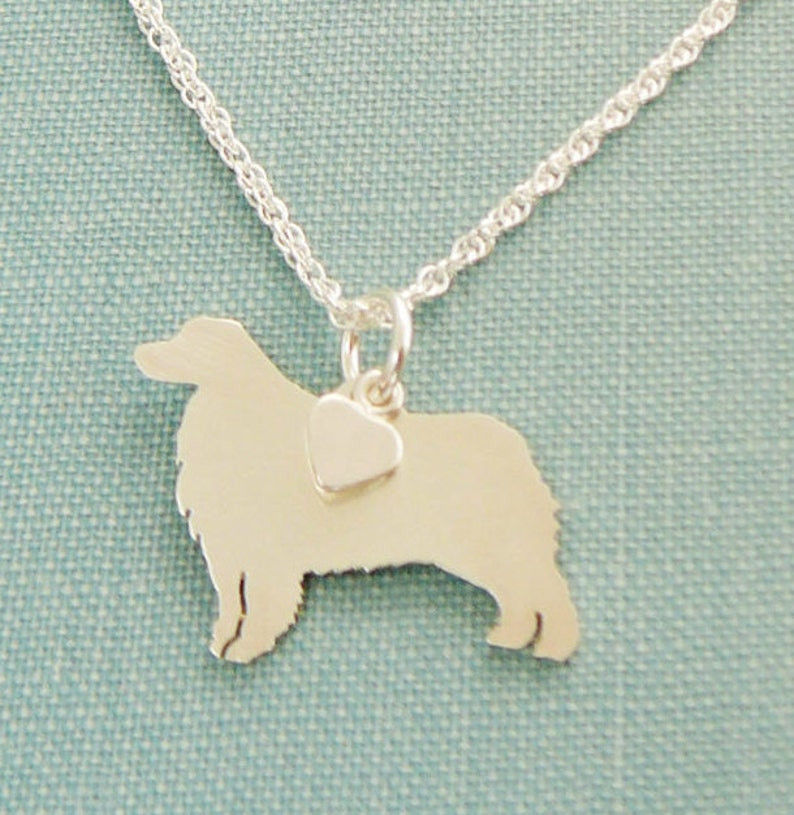 """Sterling Silver Golden Retriever Silhouette Charm Pendant Necklace W 18/"""" Chain"""