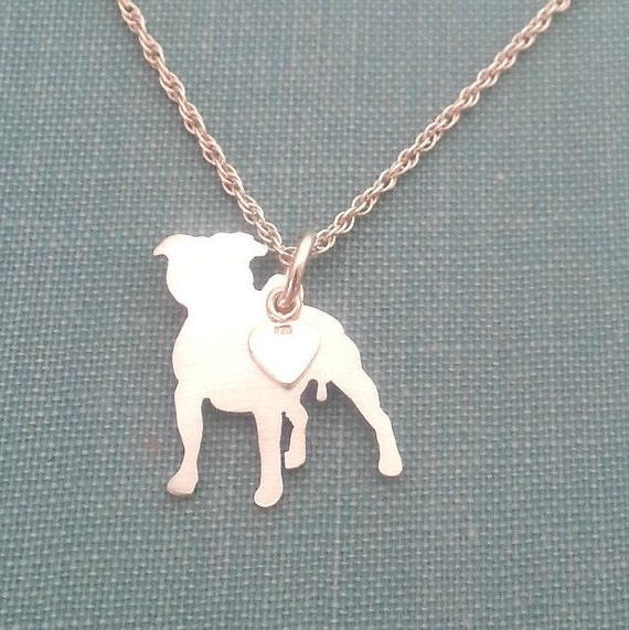 Stunning Staffordshire Bull Terrier pendant Luxury gift with exquisite detail. NO CHAIN large in Gold Vermeil on solid Sterling Silver