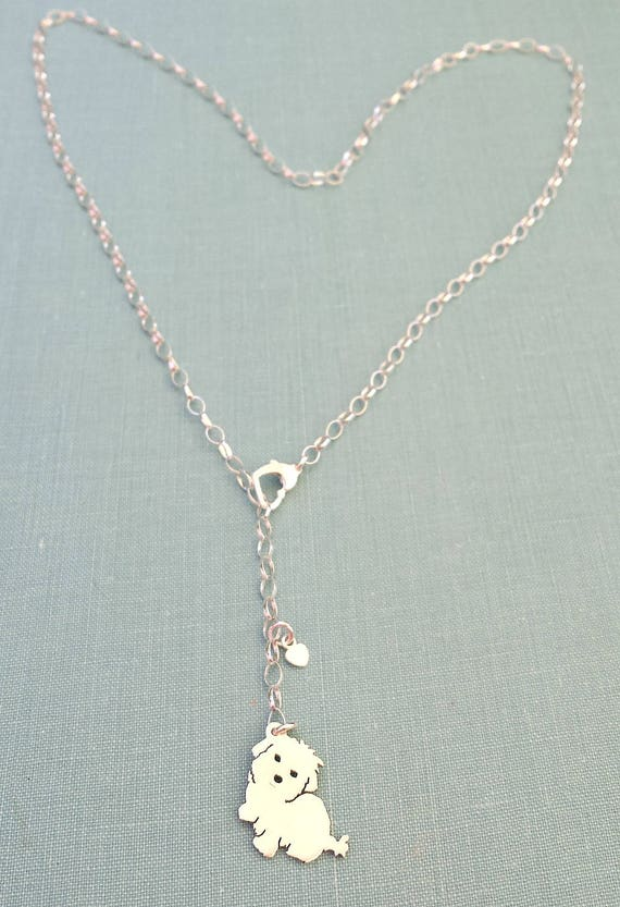 """STANDARD POODLE DOG PHOTO LOCKET Pendant  SILVER on Sterling 18/"""" Chain Necklace"""