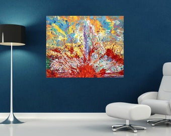 Abstract art, Melting Pot, Pittsburgh artist, Modern art, impressionistic,  Johno Prascak, Johnos Art Studio