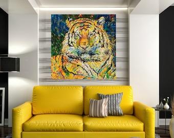 Endangered species, Tiger art, Tiger print, Tiger wall art, Wildlife art, Stripes,  Johno Prascak, Johnos Art Studio