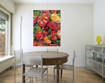 Kitchen art, chef art, garden art,  Pittsburgh artist, by Johno Prascak, Johnos Art Studio