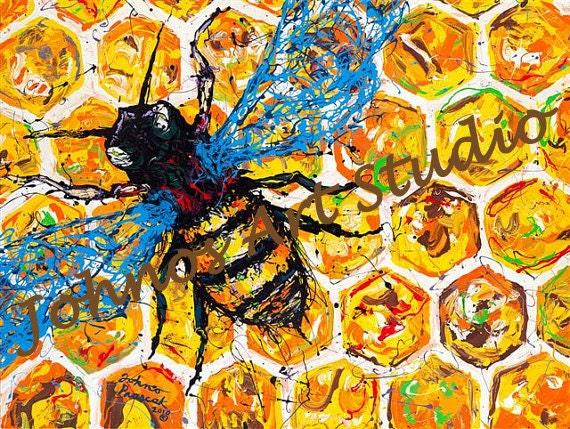 Speichern Sie die Bienen Biene Kunst Bug-Malerei moderne