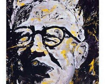 Art Rooney, Steelers The Chief, Pittsburgh Steelers wall art, Man Cave art, Pittsburgh Legend, by Pittsburgh Artist Johno
