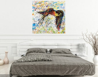 Livingroom art, Falcon art, Bird of Prey art, Bird art, Nature art, metal prints,  Johno Prascak, Johnos Art Studio