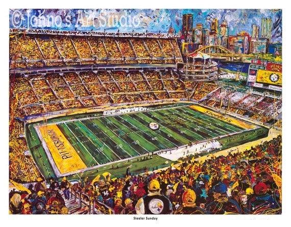 Pittsburgh Steelers Football Painting Heinz Field Print