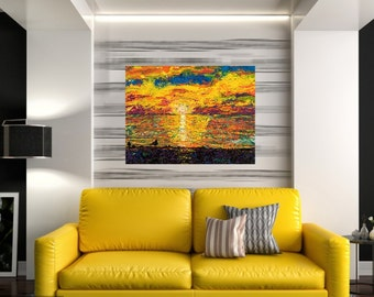 Presque Isle art, Lake Erie wall art, Beach art, Beach house art, sunset art,  Pittsburgh artist, Johno Prascak