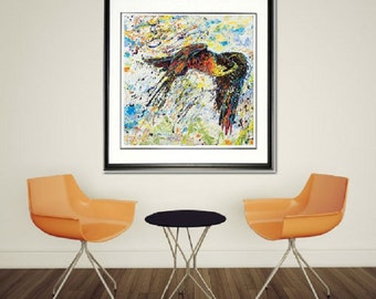 Bird wall art, Peregrine Falcon wall art, wildlife art print, Framed Bird art,  Birds of Prey wall art, by Johno Prascak