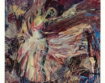 Dancer Painting, Art Print Limited Edition by Pittsburgh artist Johno Prascak