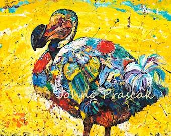 Dodo bird, Dodo bird art, Wildlife wall art, Bird art, metal prints,  Johno Prascak, Johnos Art Studio