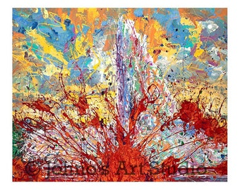 Abstract art, Modern wall art, MELTING POT, Print by Johno Prascak, Pittsburgh art