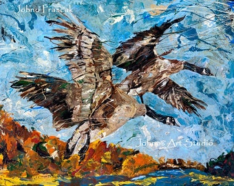 Bird art, Geese wall art, Migration, Modern bird art,  Pittsburgh artist, by Johno Prascak, Johnos Art Studio