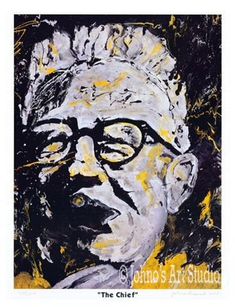 57f08a7fcb5 Pittsburgh Steelers Steelers wall art The Chief Art Rooney | Etsy