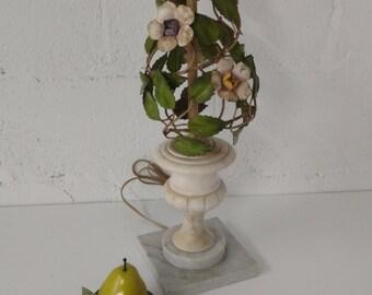 Vintage Italian Tole Lamp / Marble Urn Base