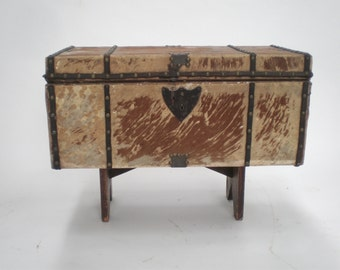 Antique Trunk Stage Coach Trunk Pony Hair