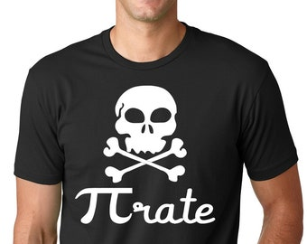 524c1edd Pi rate Funny Pirate T shirt Humor Tee Gifts for men funny graphic tee  gifts for him gag joke humurous tee for men science gift for teacher