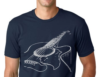 Kids Unisex Boys//Girls CHRISTMAS GUITAR Fairisle Guitarist Acoustic Music TShirt