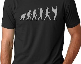 f62f23a4 Guitar Player Evolution T shirt Musician t shirts guitarist shirts Gifts  for men Guitar tees Music shirts Bass guitar shirt Electric guitar