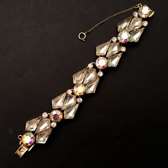 Vintage Wedding Bracelet, Vintage Jewelry, AB Rhin