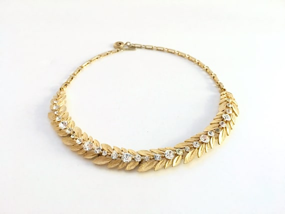 Lisner Gold Vintage Necklace, Vintage Jewelry, Rhi