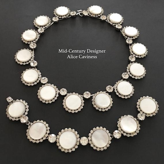 Signed Alice Caviness Jewelry Set, 60s Vintage Jew