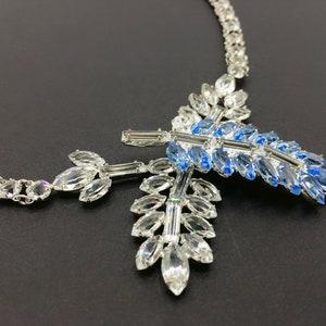 Mid-century Art Deco Vintage 1940s Sterling Buckle Bracelet Gold Mesh Chain Silver Vermeil Rhinestone Jewelry