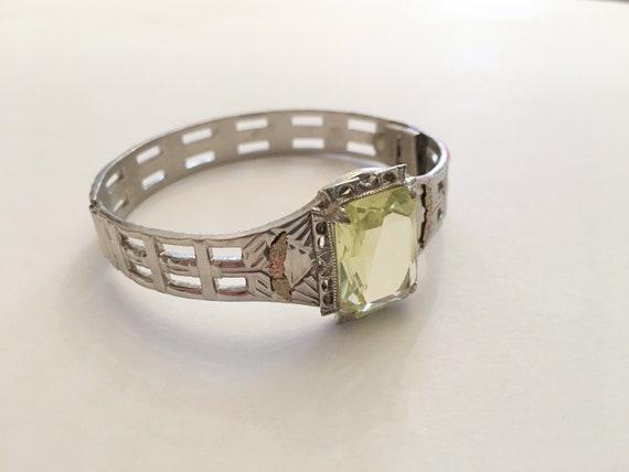 1920s ALLCo Rhinestone Bracelet, Art Deco Jewelry,