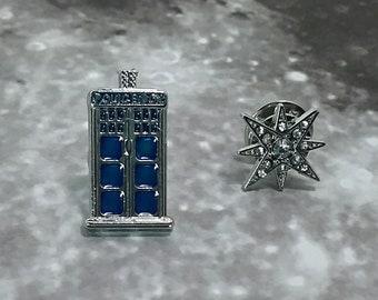 Enamel Doctor Who Pins - Tardis and Star Pins Geek Gift Lapel Pins