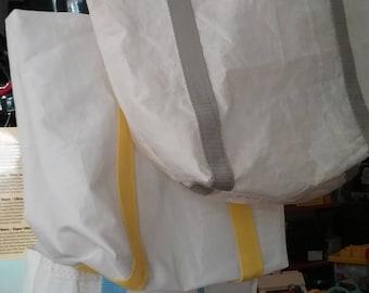 Small recycled sail tote bag
